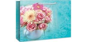 Geschenktragetasche Blumenstrauß 06-0212 29x38x10cm Produktbild