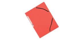 Cartellina a 3 lembi con elastico Q-Connect 24,3x32 cm cartoncino manilla 32x24,3 cm 375 g/m² rosso - KF02165 Immagine del prodotto