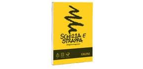 Album da disegno Favini SCHIZZA&STRAPPA in carta naturale liscia 50 g/m² 10,5x14,8cm (A6) -150fg - A200706 Immagine del prodotto