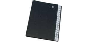 Libro monitore Q-Connect 270x340 mm nero 1-31 KF04564 Immagine del prodotto