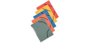 Cartellina a 3 lembi con elastico Q-Connect 24,3x32 cm cartoncino manilla 375 g/m² assortiti  cf. 10 - KF02174 Immagine del prodotto