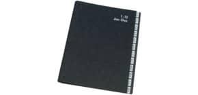 Libro monitore Q-Connect 270x340 mm nero 1-12 KF04562 Immagine del prodotto