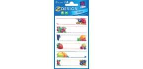 Einmachetikett Früchte + Welle 76x120 mm ZWECKFORM 59473  18 Stück Produktbild