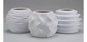 Dekovase Keramik weiß sortiert Produktbild
