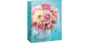 Geschenktragetasche Blumenstrauß 06-0210 23x19x10,5cm Produktbild
