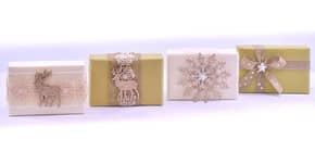 Schafmilchseife Weihnachten grün/weiß FLOREX 0454 150gr. Produktbild