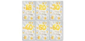Geburtstagskarte Zahl  sortiert 52-6499   Bild Produktbild