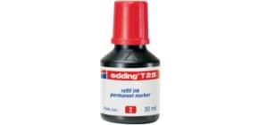 Inchiostro permanente per ricarica edding T 25 rosso - 30 ml 4-T25002 Immagine del prodotto