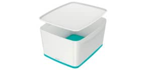 Ablagebox  MyBox groß A4 weiß/eisblau Produktbild