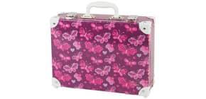 Handarbeitskoffer Butterfly dunkelrot Produktbild