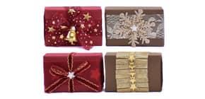 Schafmilchseife Weihnachten rot/gold FLOREX 0453 150gr. Produktbild