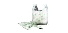 Shopper NESSUNO in mater-bi biodegradabile verde 27+7,5+7,5x50 cm cartone da 500 pz - 21381 Immagine del prodotto