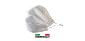 Mascherine chirurgiche monouso bianche Tipo II - Autorizzate dal Ministero della Salute - Conf. 50 pezzi - UNI 40 Immagine del prodotto