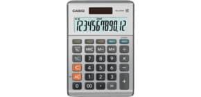 Tischrechner 12-stellig silber DualPower CASIO MS-120BM Produktbild