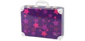 Handarbeitskoffer Stars violett Produktbild