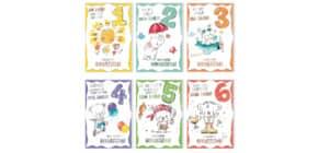 Geburtstagskarte Kinder Zahl sortiert 52-1107   Bild Produktbild