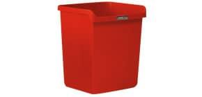 """Cestino impilabile ARDA """"Rosso Italia Collection"""" 15 litri polipropilene rosso rettangolare - 8116RIR Immagine del prodotto"""