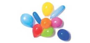 Luftballon 10 Stück sortiert mit Pumpe RIETHMÜLLER 9904024 Produktbild