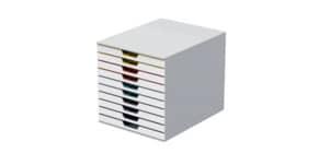 Cassettiera DURABLE Varicolor® 10 cassetti 28x35,6x29,2 cm profili colorati - 63027 Immagine del prodotto