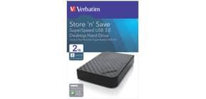 Hard Disk Esterno Verbatim Store'n ' Save 3.0 2 TB nero - 47683 Immagine del prodotto