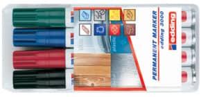 Permanentmarker 4ST sort. Produktbild