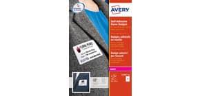 Badge adesivi in seta acetata AVERY 80 x 50mm 20 fogli - L4785-20 Immagine del prodotto