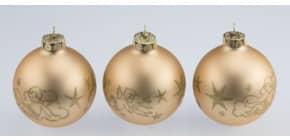 Baumbeh. Kugel 3 Stück matt gold Produktbild