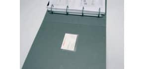 Tasche adesive portabiglietti Q-Connect ppl 60x95 mm trasparente apertura lato lungo  conf. da 10 - KF27039 Immagine del prodotto
