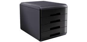 Cassettiera 4 cassetti ARDA Mydesk polistirolo e materiale infrangibile grigio/nero - 18P4PN Immagine del prodotto