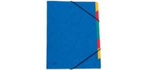 Ordnungsmappe A4 7tlg blau Produktbild