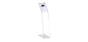 Espositore informativo a leggio TECNOSTYL A4 verticale in acrilico 22x38x108 cm trasparente - MB060 Immagine del prodotto