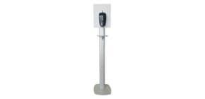Piantana in alluminio con dispenser manuale da 800 ml nero per sapone e Gel igienizzante 40x40x150 cm - 6042021 Immagine del prodotto