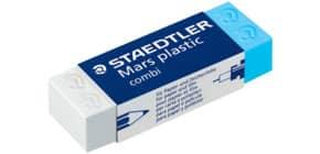 Plastikradierer  ws/blau Produktbild