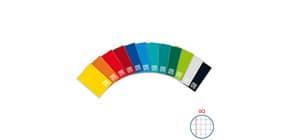 Quaderno a quadretti One Color A5 a punto metallico colori assortiti rigatura Q - 1406 Immagine del prodotto