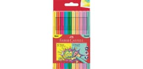 Faserschreiberetui 10ST Neon+Pastell Produktbild