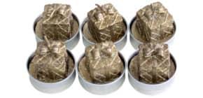 Weihnachts Teelicht 6 Stück  gold ProduktbildEinzelbildM