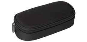 Schüleretui klein schwarz DONAU 6777001-01 oval Produktbild