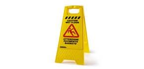 Cartello Pavimento Bagnato Perfetto Factory giallo -21x30xh62 cm 0466 Immagine del prodotto