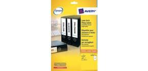 Etichette per raccoglitori Avery 192x61mm bianco Laser 4 et./foglio Conf. 25 fogli - L4761-25 Immagine del prodotto