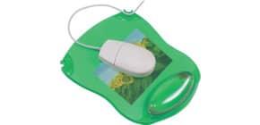 Tappetino per mouse Q-Connect con poggiapolsi in gel 22x26x2,8 cm verde trasparente - KF20086 Immagine del prodotto