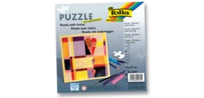 Puzzle 25tlg.blanko weiß FOLIA 2331 21x21cm m.Rahmen Produktbild