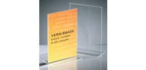 Tischaufsteller A5 hoch glasklar Acryl SIGEL TA222 gerade Standfüße Produktbild