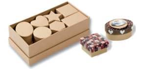 Geschenkkarton Pappe natur Produktbild