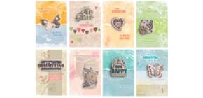 Geburtstagskarte Soft Nature sortiert 8Mot. 51-2709 Produktbild