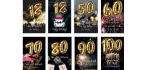 Geburtstagskarte Zahl  sort. 52-9499 Balloon Party Produktbild