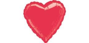 Folienballon Herz rot 43cm D. 1058401 Produktbild