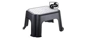 Sgabello Rotho fisso portata 150 kg 37x30x34 cm nero/alluminio F707789 Immagine del prodotto