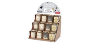 Weihn.Teelichthalter Simple Christmas FÜR DICH 640140 H6cm D6cm Produktbild