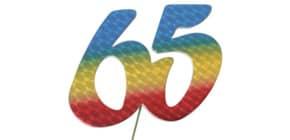 Jubiläumszahl 65 bunt 2514065 Produktbild