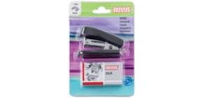 Set cucitrice Novus Mini + 320 punti 24/6 - max 12 fogli nero H101031 Immagine del prodotto